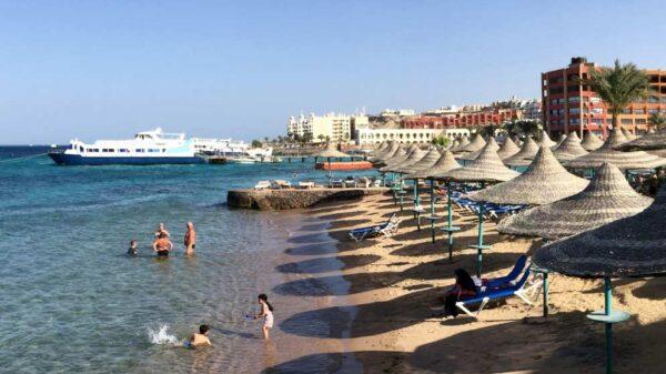playa egipcia de Hurgada
