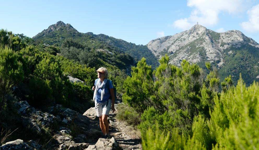 senderismo en la isla de Elba
