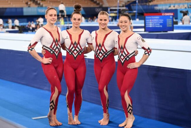 equipo alemán femenino de gimnasi